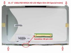 "LCD 15.6"" 1366x768 WXGA HD LED 40pin Slim DH Special"