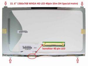 """LCD 15.6"""" 1366x768 WXGA HD LED 40pin Slim DH Special matný"""
