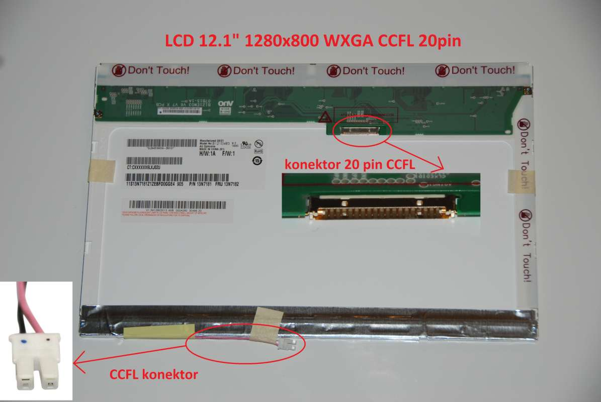 "LCD 12.1"" 1280x800 WXGA CCFL 20pin"