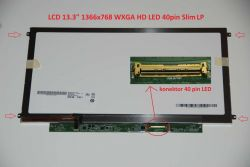 "LCD 13.3"" 1366x768 WXGA HD LED 40pin Slim LP lesklý"