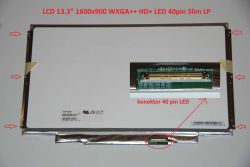 "LCD 13.3"" 1600x900 WXGA++ HD+ LED 40pin Slim LP"