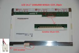 "LCD 14.1"" 1440x900 WXGA+ CCFL 30pin lesklý"