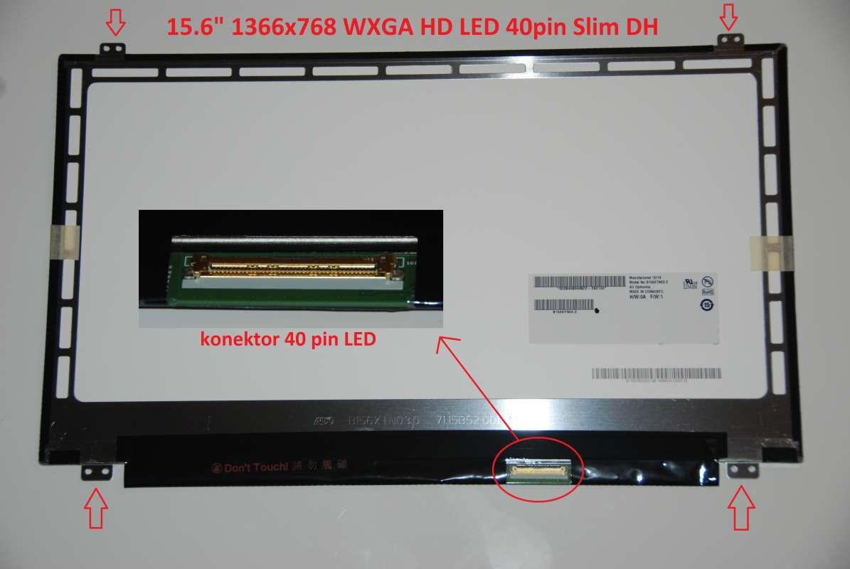 "LCD 15.6"" 1366x768 WXGA HD LED 40pin Slim DH"