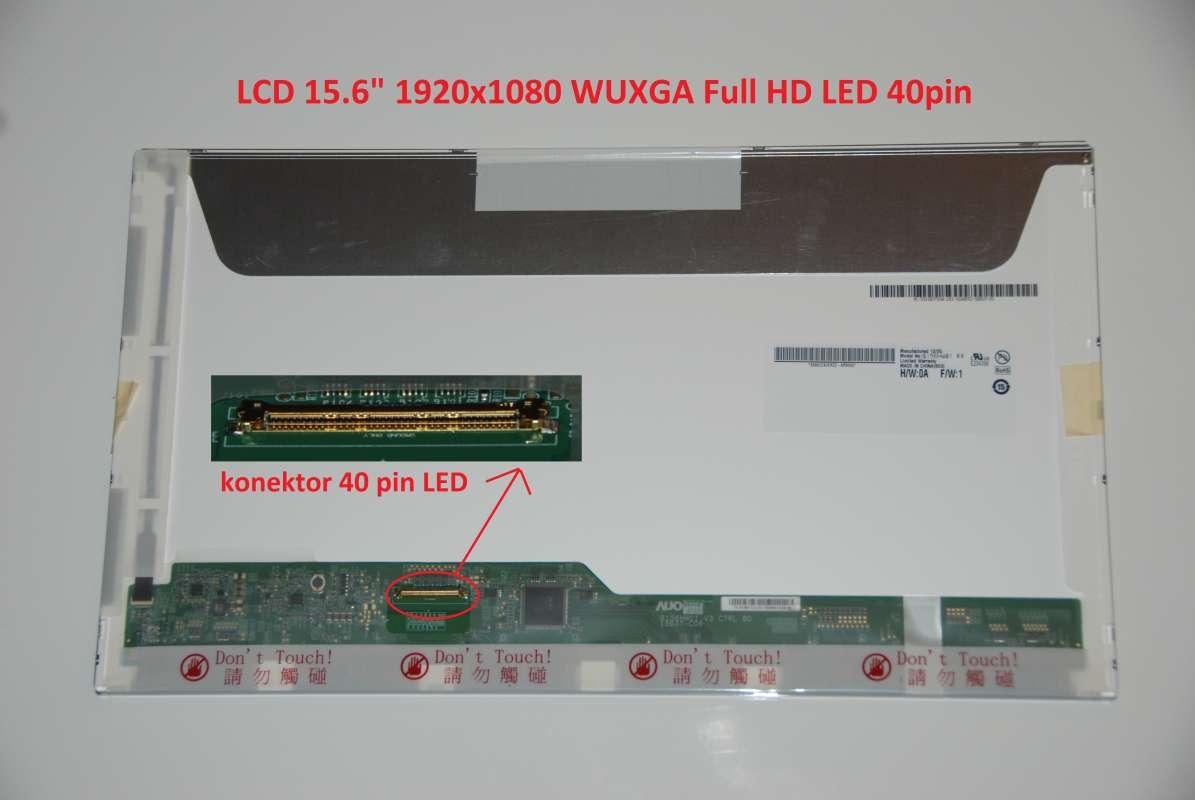 """LCD 15.6"""" 1920x1080 WUXGA Full HD LED 40pin lesklý"""