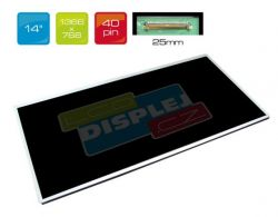 "LCD displej display HP 14-D030BR 14"" WXGA HD 1366x768 LED"
