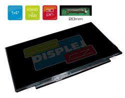 """LCD displej display Asus L402SA 14"""" WXGA HD 1366x768 LED"""