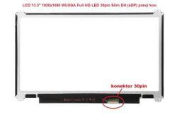 """B133HTN01.1 HW0A LCD 13.3"""" 1920x1080 WUXGA Full HD LED 30pin Slim DH (eDP) prav.kon"""