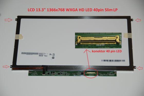 "LCD displej display Acer TravelMate Timeline 8372ZG Serie 13.3"" WXGA HD 1366x768 LED"