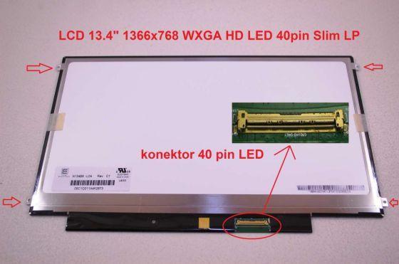 """LCD displej display MSI X370 Serie 13.4"""" WXGA HD 1366x768 LED lesklý/matný"""