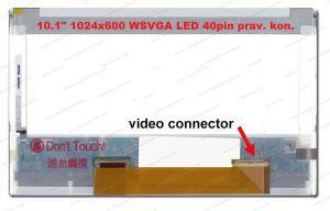 """LCD 10.1"""" 1024x600 WSVGA LED 40pin prav. kon."""