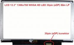 "LCD 13.3"" 1366x768 WXGA HD LED 30pin (eDP) Slim LP lesklý"