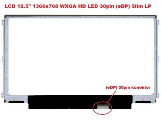 "B125XTN01.0 HW3A LCD 12.5"" 1366x768 WXGA HD LED 30pin (eDP) Slim LP display displej AU Optronics"
