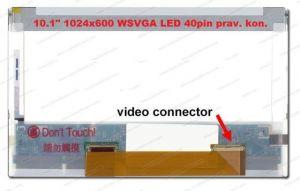 """LTN101XT01-001 LCD 10.1"""" 1024x600 WSVGA LED 40pin prav. kon."""