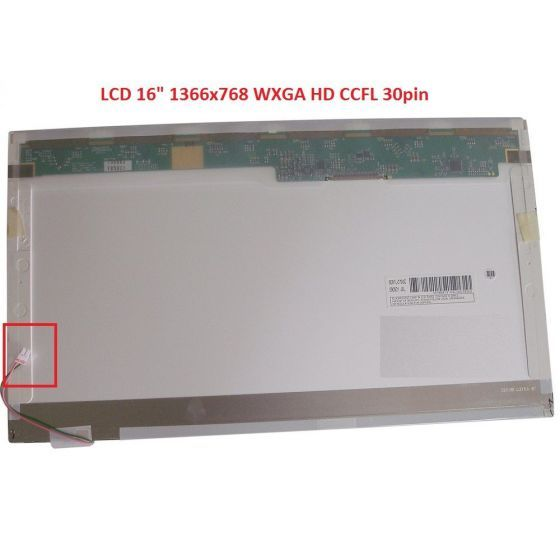 "LTN160AT02-001 LCD 16"" 1366x768 WXGA HD CCFL 30pin display displej"