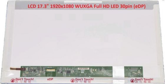 "LCD displej display MSI GE72 2QC-232FR 17.3"" WUXGA Full HD 1920x1080 LED lesklý/matný"