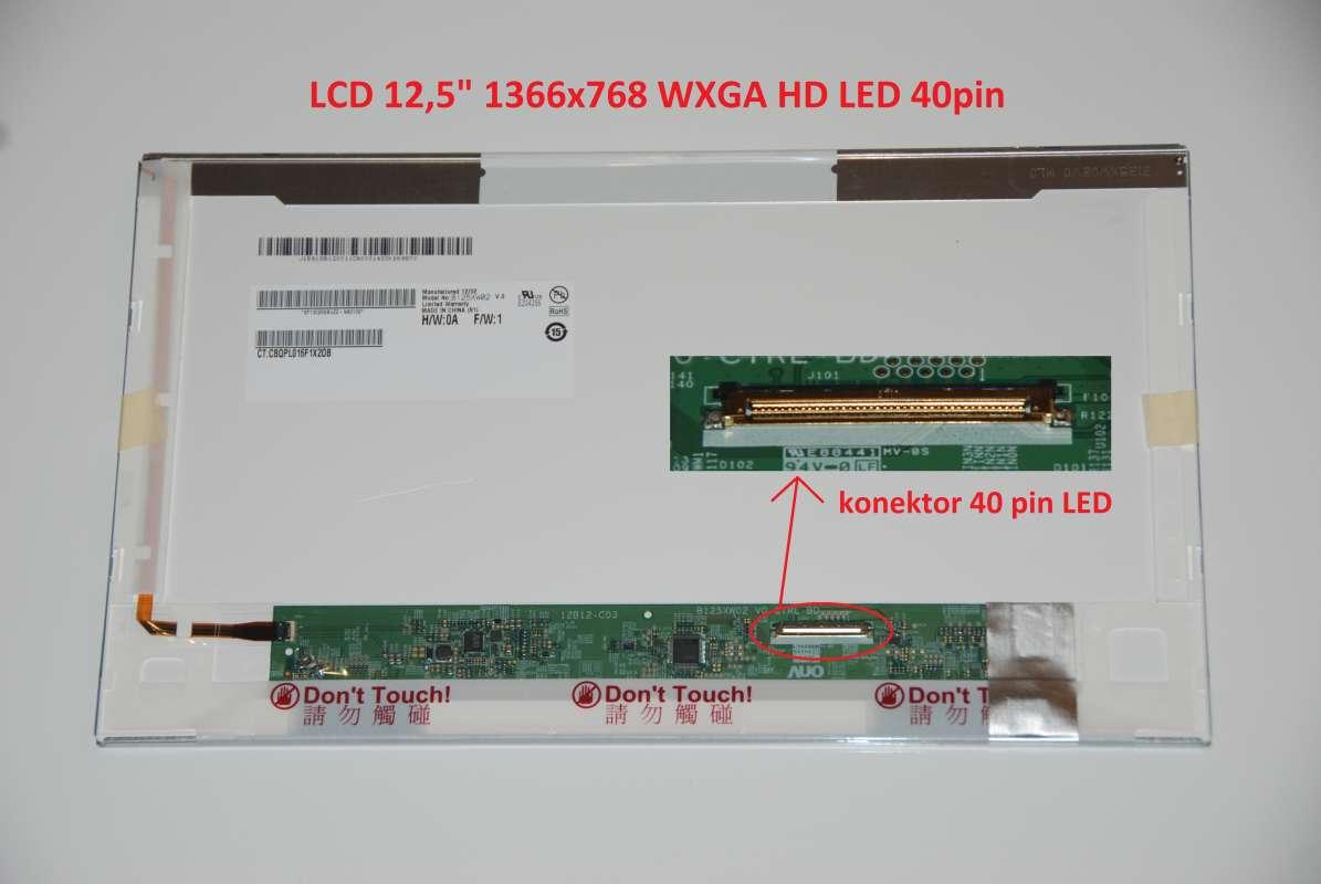 "B125XW02 V.0 LCD 12.5"" 1366x768 WXGA HD LED 40pin"