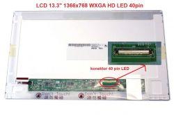 "LCD 13.3"" 1366x768 WXGA HD LED 40pin lesklý"