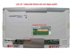 "LCD 14"" 1366x768 WXGA HD LED 30pin (eDP) levý konektor"