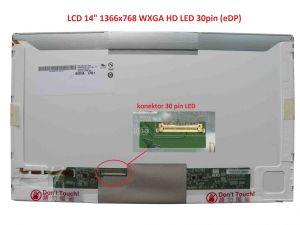 "LCD displej display HP EliteBook 8440W Serie 14"" WXGA HD 1366x768 LED | lesklý povrch, matný povrch"