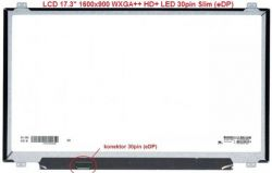 "LCD 17.3"" 1600x900 WXGA++ HD+ LED 30pin Slim (eDP) lesklý"