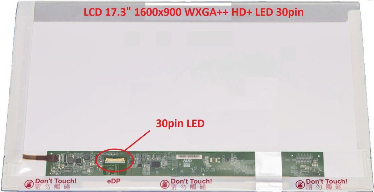 "B173RTN01.1 HW1A LCD 17.3"" 1600x900 WXGA++ HD+ LED 30pin (eDP) display displej AU Optronics"