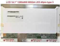 "LTN141AT06 LCD 14.1"" 1280x800 WXGA LED 40pin type 3"