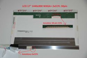 "B170PW04 V.0 LCD 17"" 1440x900 WXGA+ 2xCCFL 30pin"