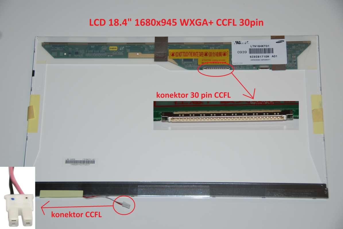 """LTN184KT01-101 LCD 18.4"""" 1680x945 WXGA+ CCFL 30pin display displej"""