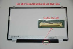 "LCD 14"" 1366x768 WXGA HD LED 40pin Slim"