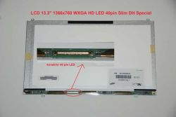 "LCD 13.3"" 1366x768 WXGA HD LED 40pin Slim DH Special"