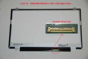 """LCD 14"""" 1600x900 WXGA++ HD+ LED 40pin Slim lesklý"""