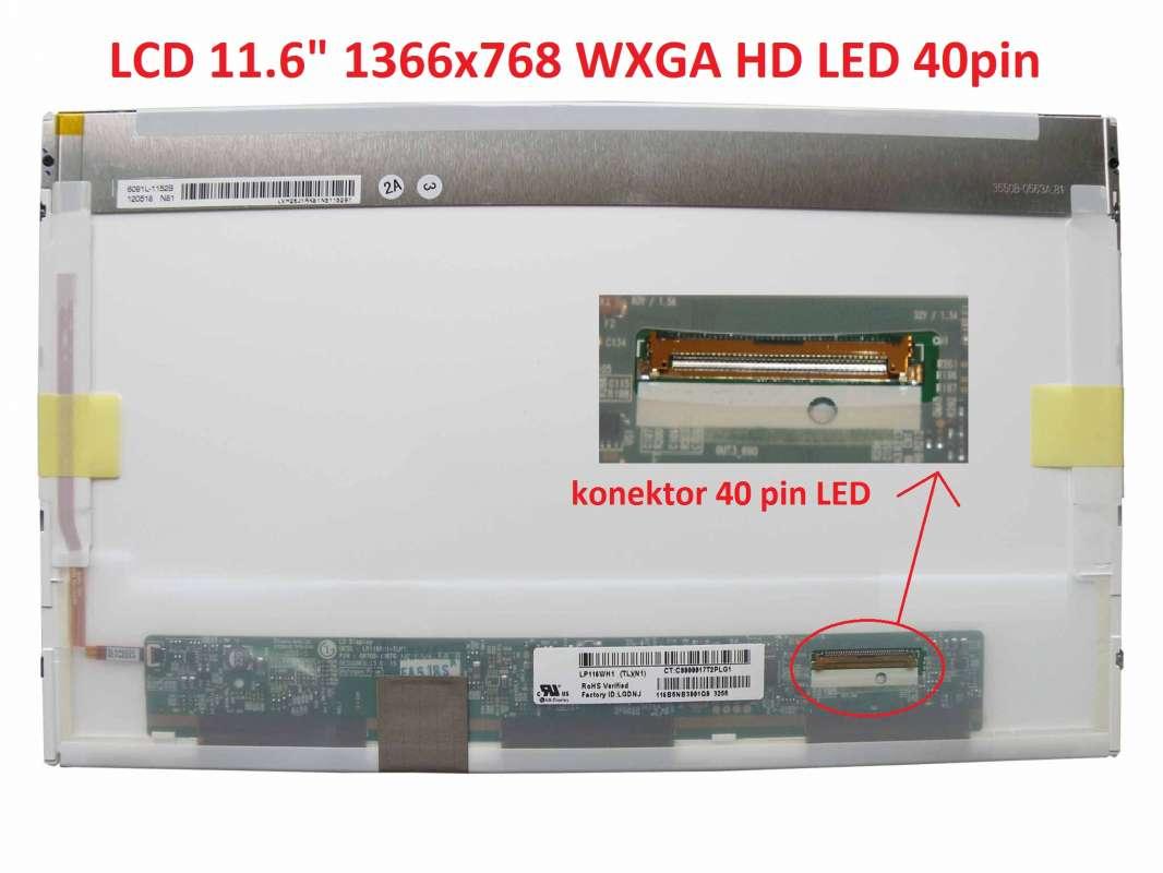 "LCD 11.6"" 1366x768 WXGA HD LED 40pin"