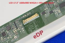 "LCD 17.3"" 1600x900 WXGA++ HD+ LED 30pin (eDP) lesklý"
