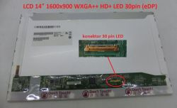 "LCD 14"" 1600x900 WXGA++ HD+ LED 30pin (eDP)"