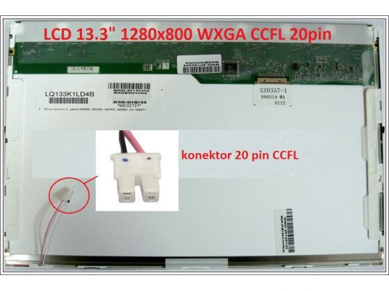 """LCD displej display Dell Vostro 1320 13.3"""" WXGA 1280x800 CCFL lesklý/matný"""