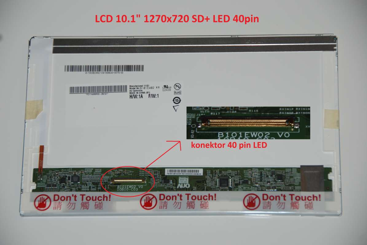 "LTN101AT01 LCD 10.1"" 1270x720 SD+ LED 40pin"