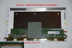 "LP156WH9(TL)(A1) LCD 15.6"" 1366x768 WXGA HD 3D LED 40pin"