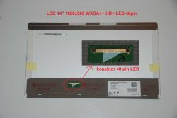 "LCD 14"" 1600x900 WXGA++ HD+ LED 40pin"