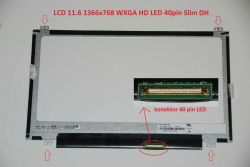 "LCD 11.6"" 1366x768 WXGA HD LED 40pin Slim DH matný"