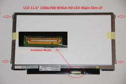 "LCD 11.6"" 1366x768 WXGA HD LED 40pin Slim LP"