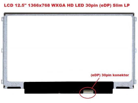 """B125XTN02.0 HW1A LCD 12.5"""" 1366x768 WXGA HD LED 30pin (eDP) Slim LP display displej AU Optronics"""