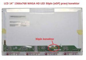 """B140XW01 V.4 LCD 14"""" 1366x768 WXGA HD LED 30pin (eDP) pravý konektor"""