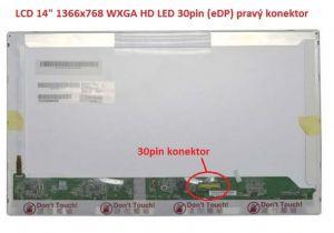 """N140B6-D11 REV.C2 LCD 14"""" 1366x768 WXGA HD LED 30pin (eDP) pravý konektor display displej   lesklý povrch, matný povrch"""