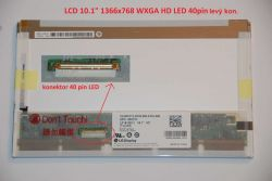 "LCD 10.1"" 1366x768 WXGA HD LED 40pin levý konektor"