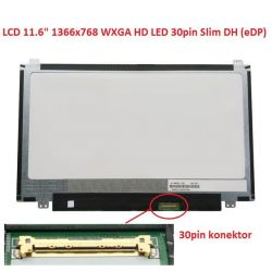 "LCD 11.6"" 1366x768 WXGA HD LED 30pin Slim DH (eDP) matný"