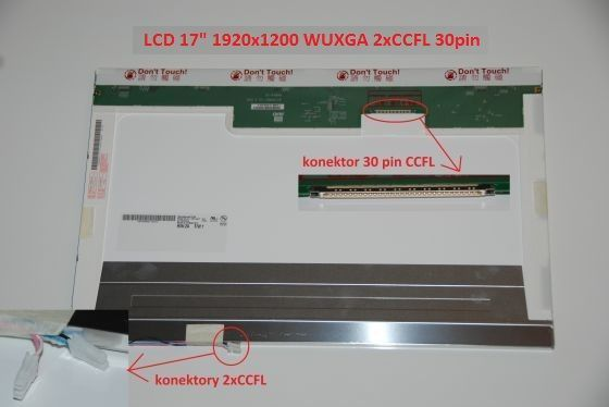 "LCD displej display Toshiba Qosmio G30 Serie 17"" WUXGA Full HD 1920x1200 2xCCFL lesklý/matný"
