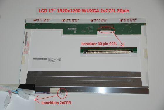 "LCD displej display Toshiba Qosmio G40 Serie 17"" WUXGA Full HD 1920x1200 2xCCFL lesklý/matný"