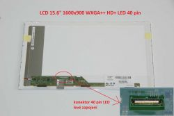 "LCD 15.6"" 1600x900 WXGA++ HD+ LED 40pin lesklý"