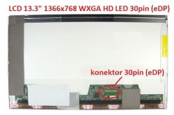 "LCD 13.3"" 1366x768 WXGA HD LED 30pin (eDP) matný"