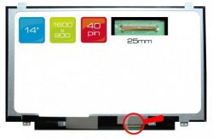 "LCD displej display Asus BU400 Serie 14"" WXGA++ HD+ 1600x900 LED | lesklý povrch, matný povrch"